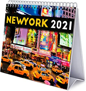 Grupo Erik CS21011 Calendario da Tavolo 2021 New York, calendario da scrivania 2021, 20x18 cm