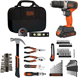 Beyond by BLACK+DECKER Kit de herramientas para el hogar con 20V MAX Taladro/Driver, 83 piezas (BDPK70284C1AEV)