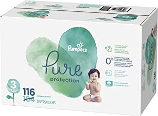 Diapers Size 3, 116 Count - Pampers Pure Protection Disposable Baby Diapers, Enormous Pack