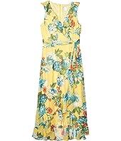 Ruffle Hem Maxi Dress