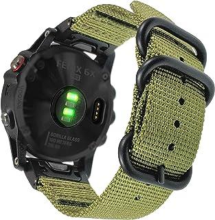 YOOSIDE for Fenix 5X/Fenix 6X Quick Fit Watch Band,26mm NOTA Woven Nylon Breathable Wristband Strap for Garmin Fenix 5X/5X...