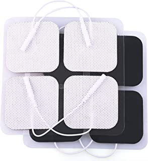 """TENS Electrode Pads, 20PCS, 2""""x2"""", TENS Unit Replacement Pads for Electrotherapy, EMS Muscle Stimulation Machine, Reusable"""