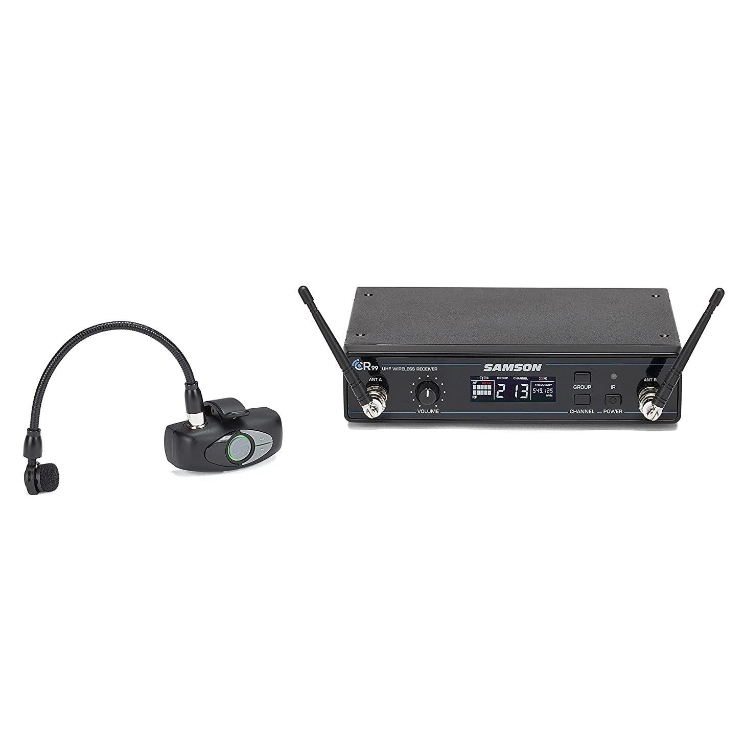 Samson AirLine AWX Wind Instrument Micro Transmitter Wireless System with HM60 Wind Instrument Microphone, D-Band