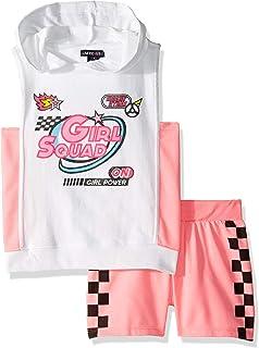 Limited Too Girls Pearl Trim Cozy 2fer Fleece Jog Set Pants Set