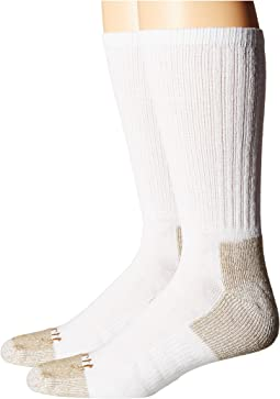 All-Season Steel Toe Cotton Crew Work Socks 2-Pack