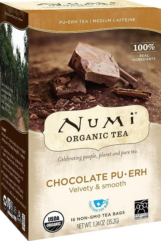 Numi Organic Tea Chocolate Pu Erh 16 Count Box Of Tea Bags Black Tea