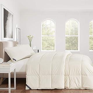 Five Queens Court Certified 100% Organic Cotton Down Alternative Comforter, Off-White, Natural, Full/Queen 92X96