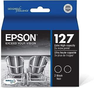 Epson T127120-D2 DURABrite Ultra Black Dual Pack Extra High Capacity Cartridge Ink