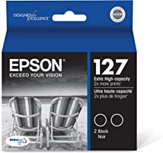 Epson T127120-D2 DURABrite Ultra Black Dual Pack Extra High Capacity Cartridge Ink,Black Multipack