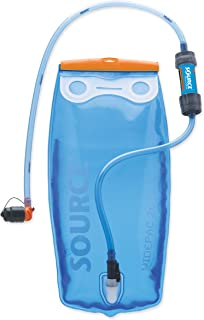 Source Outdoor Water Filtering Widepac 2L Hydration Reservoir with Helix Bite Valve + Sawyer Mini Water Filter