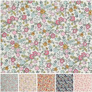 COTTONVILL RevLawn Cotton Lawn Flowers Fabric 2yd, Tiny Poppy Wild Rose