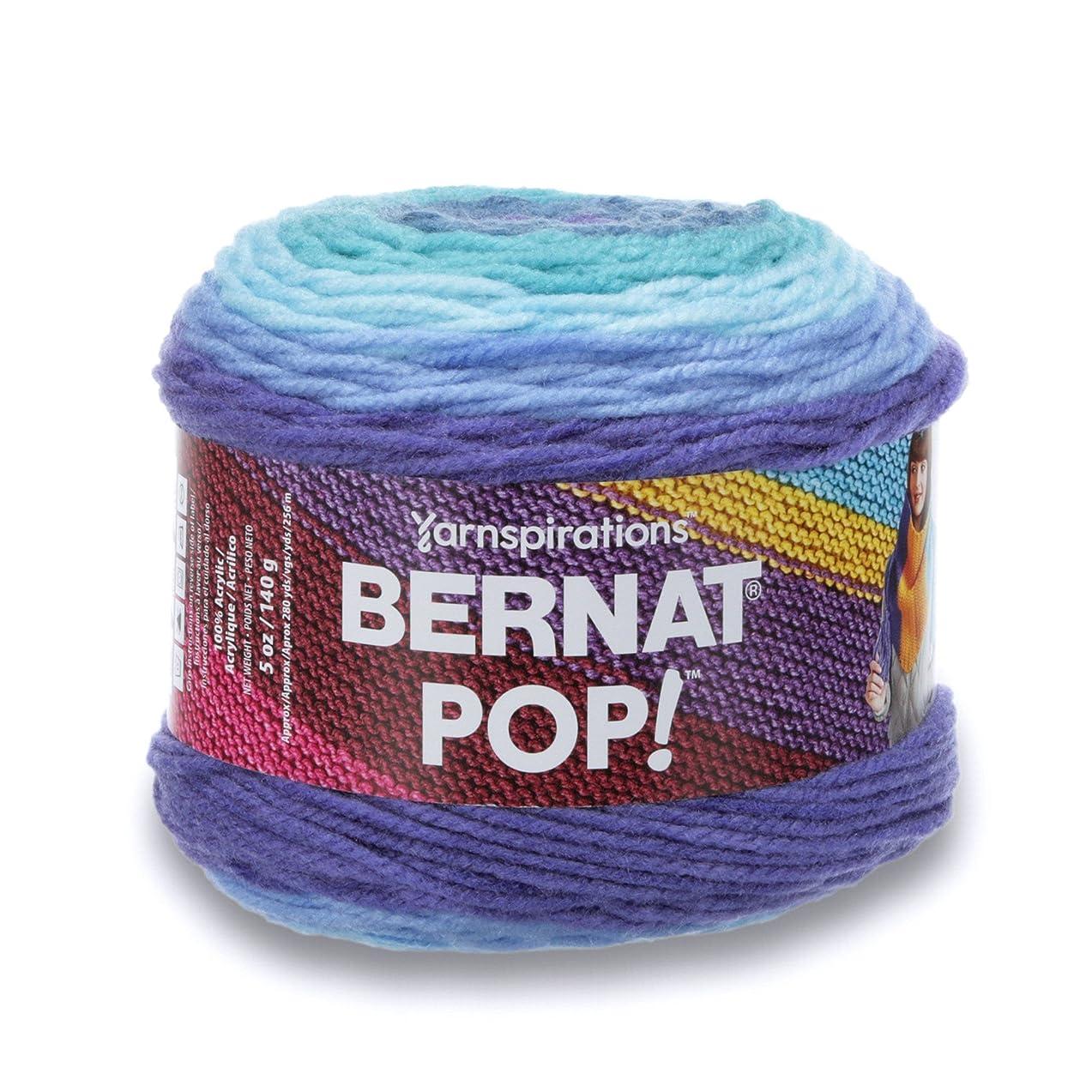 Bernat POP!, 5oz, Guage 4 Medium, 100% Acrylic, Blue Blaze