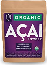 Organic ACAI Powder (Freeze-Dried) | 4oz Resealable Kraft Bag | 100% Raw Antioxidant Superfood Berry From Brazil | by Feel Good Organics