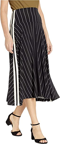 Side Stripe Flared Skirt