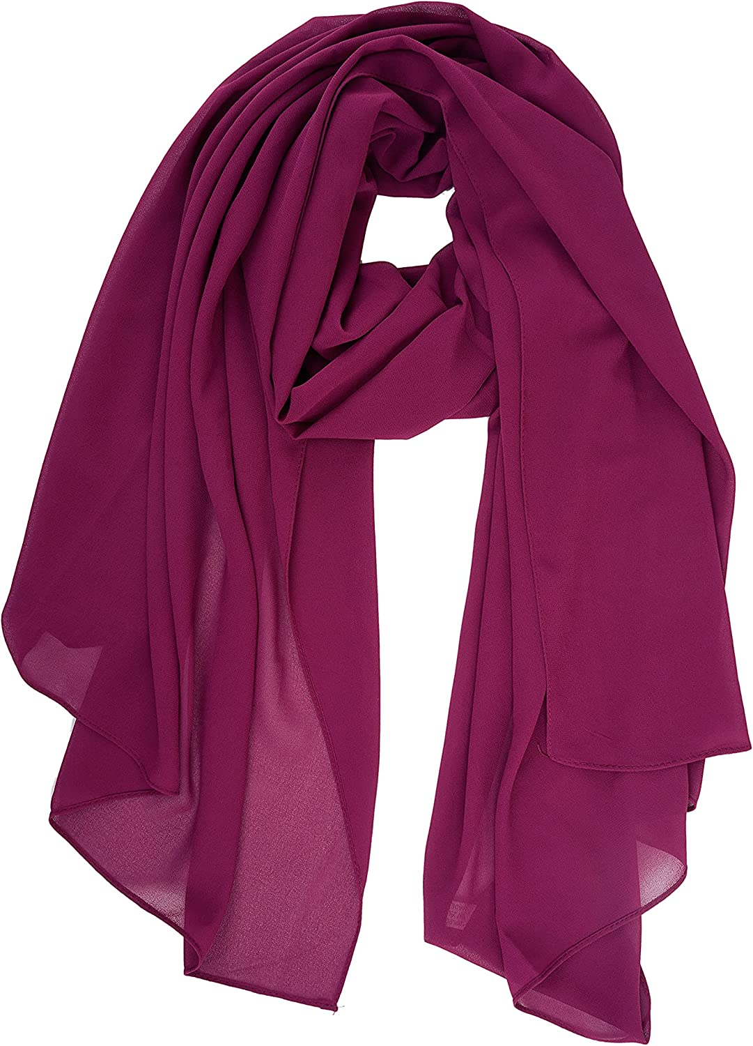 YOUR SMILE for Women Lightweight Breathable Solid Color Soft Chiffon Long Fashion Scarves Sun-proof Shawls Wrap