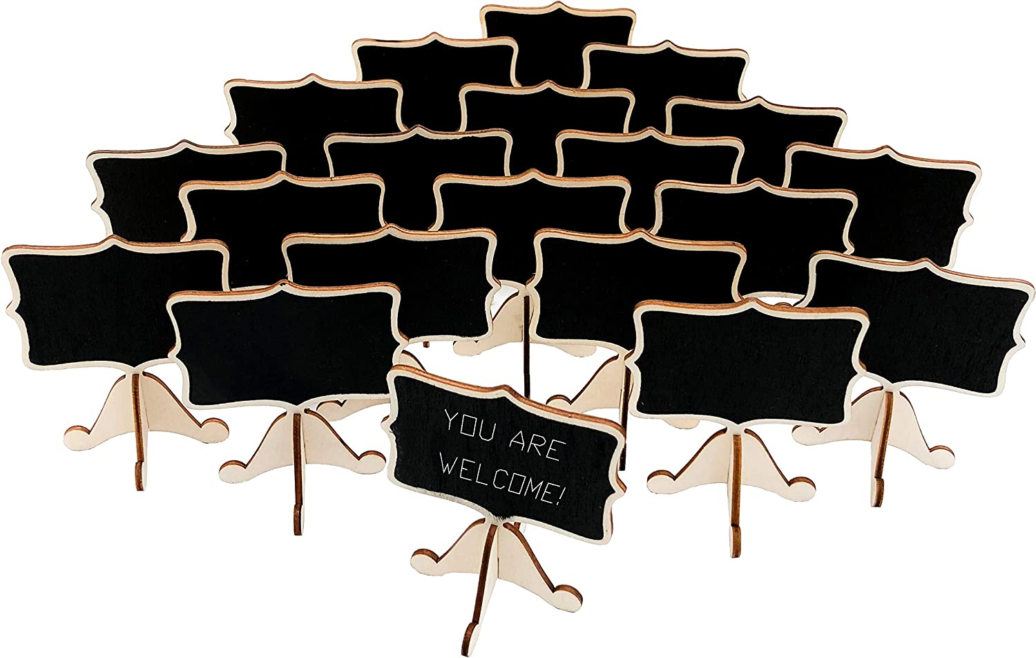 20 Pcs Wood Mini excellence Chalkboard Signs Easels with Place Support Car 40% OFF Cheap Sale