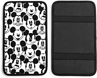 Suzzc Mickey Mouse Armrest Cover Center Console Pad, Car Armrest Seat Box Cover Protector Universal Fit Decoration Cushion...