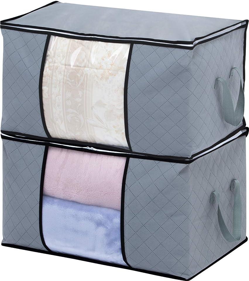 アストロ 衣装ケース 2個 グレー 不織布 活性炭消臭 大容量 171-50