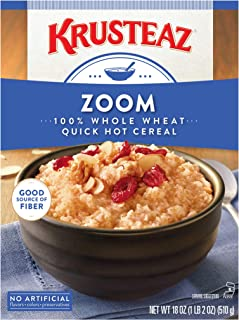 Krusteaz Quick Hot Cereal Zoom, 18-Ounce Boxes (Pack of 12)