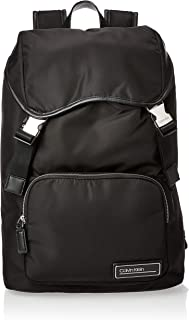 Calvin Klein Primary Backpack With Flap Bag, Black, 42 cm, K50K505144