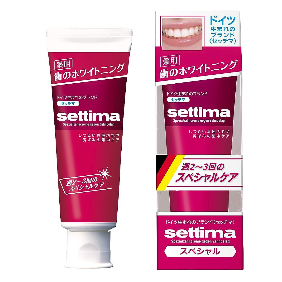 大宇宙非互換部settima(セッチマ) ホワイトニング 歯みがき スペシャルケア [ペパーミントタイプ] 80g