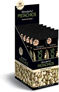 Wonderful Pistachios, Roasted and Salted, 1.25 Ounce Bag (Pack of 12)