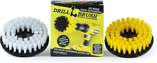Drill Brush - 5-inch Spin Brush Cleaning Kit - Calcium, Mineral Deposits, Soap Scum, Rust - Hard Water Stain Remover - Gro...