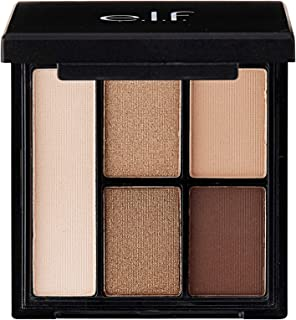 e.l.f. Cosmetics Clay Eyeshadow Palette, Infused with Kaolin Clay for Long Lasting Wear, Necessary Nudes