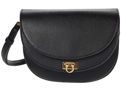 Salvatore Ferragamo Travel Crossbody (Nero) Handbags