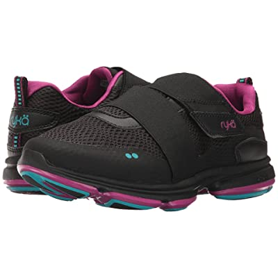 Ryka Devotion Plus Cinch (Black/Bluebird/Purple Clover) Women