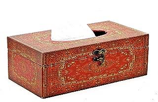 Bellaa 28274 Tissue Box Holder Decorative Hinged Refillable Holder Cover Rectangular