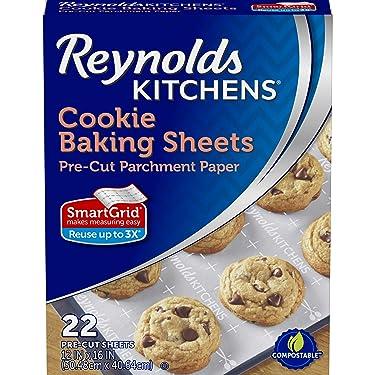 Reynolds Kitchens Cookie Baking Sheets Parchment Paper, Non-Stick