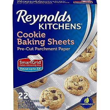 Reynolds Kitchens Cookie Baking Sheets, Pre-Cut Parchment Paper, 22 Sheets