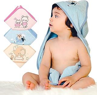 BelleStyle Kapuzenbadetuch Baby Bademantel Badetuch Babydecke Kleinkinder Babybademantel aus Weiches Hypoallergenes Bio Baumwolle Kuscheldecke Geschenk f/ür Neugeborene Babyhandtuch mit Kapuze