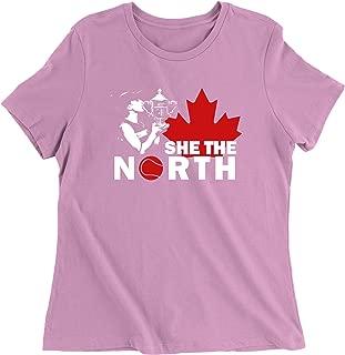 FerociTees She The North Tennis Champion Womens T-Shirt