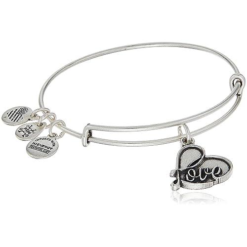 Alex and Ani Love IV Silver Bracelets 2017 Valentine's Gift.