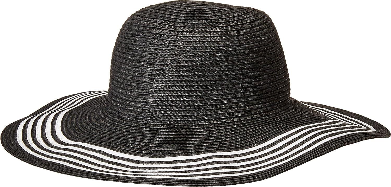 San Diego Hat Company Womens PBL3088OS Paperbraid Floppy w Contrast Stripes On Brim