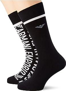 Emporio Armani Men's Casual 2 Pack of Short Socks (Pack of 3)