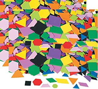 Fun Express Geometric Self-Adhesive Foam Shapes - 2000 Pieces