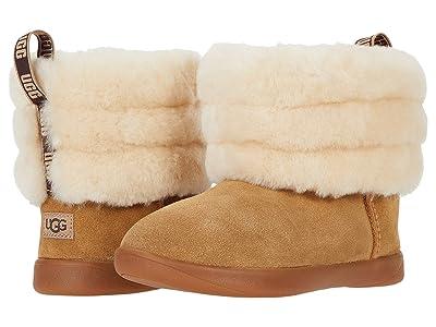 UGG Kids Mini Quilted Fluff (Toddler/Little Kid) (Chestnut) Girls Shoes