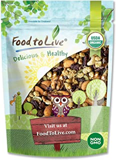 Organic Snack Wise Trail Mix, 2 Pounds — Raw and Non-GMO Mix Contains Cacao Nibs, Raisins, Almonds, Cashews, Walnuts, Mulb...
