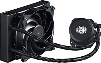 Cooler Master MasterLiquid Lite 120 CPU Liquid Cooler 120mm Radiator, 1x MasterFan Pro 120 AB PWM Fan, White LED MLW-D12M-A20PW-R1 (Renewed)