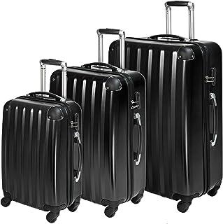 TecTake Polycarbonate Multilayer Set Lot de 3 valises Trolley Valise - avec Serrure à Combinaison intégrée - poignée téles...