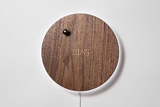 FLYTE Story - Reloj de Pared Digital (Incluye Temporizador, manecillas flotantes y retroiluminación LED), Color Nogal
