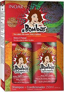 Kit Duo Shampoo e Condicionador Bombar Crescimento Capilar, Inoar, 250ml