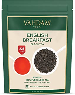 Original English Breakfast Black Tea Leaves (200+ Cups) I STRONG BLACK TEA I RICH & AROMATIC Loose Leaf Tea I Serve as ICE...