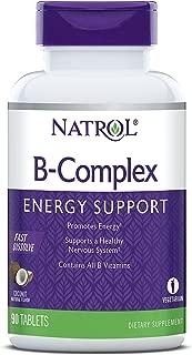 Natrol B-Complex Fast Dissolve Tablets, Coconut flavor, 90 Count