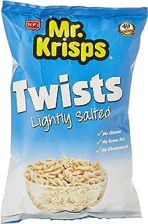Mr Krisps Potato Twists, Natural Light Salted Flavour Chips, 80 gm