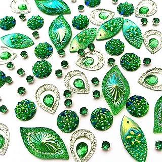 aa0d351235 Amazon.com: Green - Rhinestones & Sequins / Trim & Embellishments ...