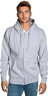 Mens Zip Up Hoodie - Full Long Sleeves Premium Cotton Fleece Lining Warm Sweatshirts for Teen Boys Adult - Drawstring Hooded Heavyweight Winter Zipper Jacket Split Pockets (Big & Tall Sizes)